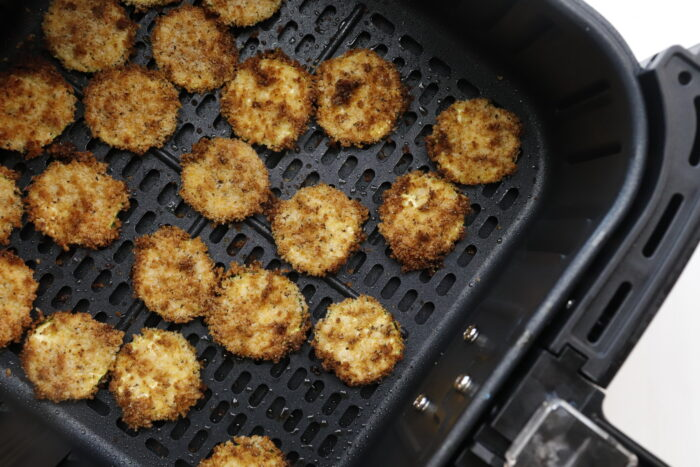 air fryer zucchini chips in the air fryer