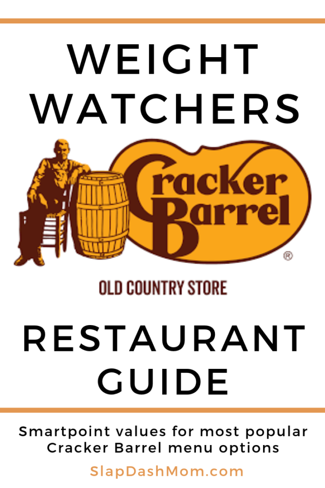 Find out Weight Watcher point values for your favorite Cracker Barrel meals! You can still have the hashbrown casserole, but you may want to avoid the meatloaf! Find out the Smartpoints! #crackerbarrel #weightwatchers #restaurantguide